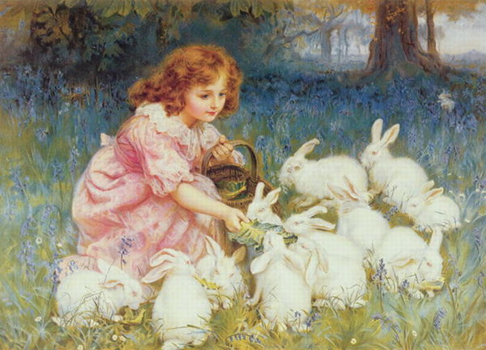 Frederick Morgan, Feeding the Rabbits