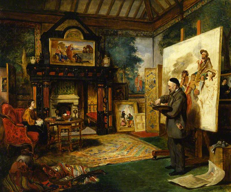 John Ballantyne - John Phillip in His Studio
