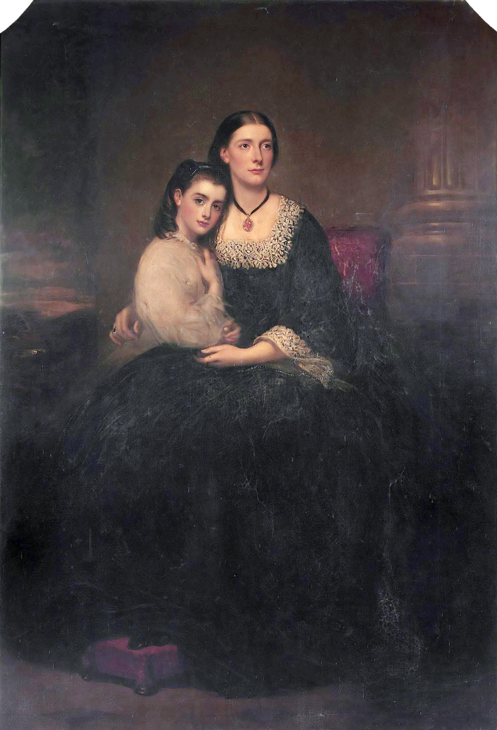 Richard Buckner, Emily, 1st Viscountess Hambleden, and her Daughter