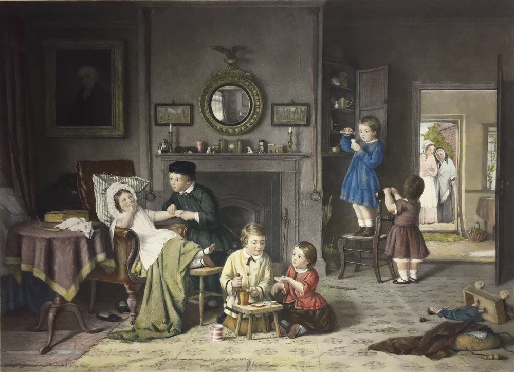 Frederick Daniel Hardy, Children Playing at Doctors
