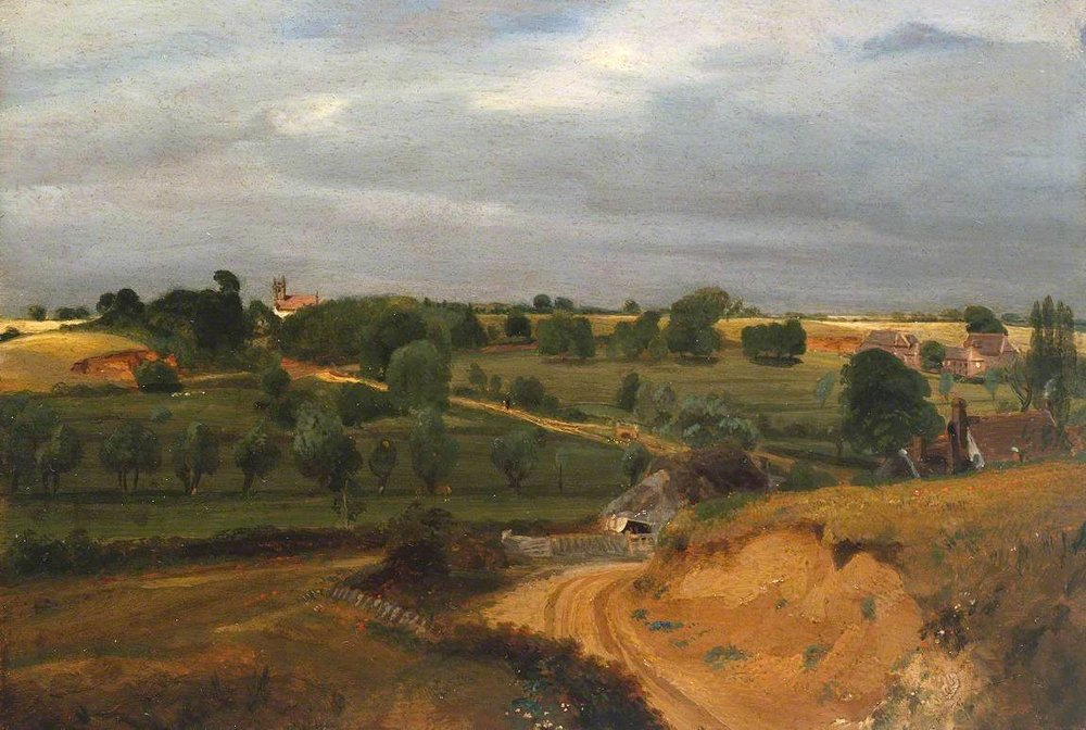 John Constable, Brightwell Church and Village