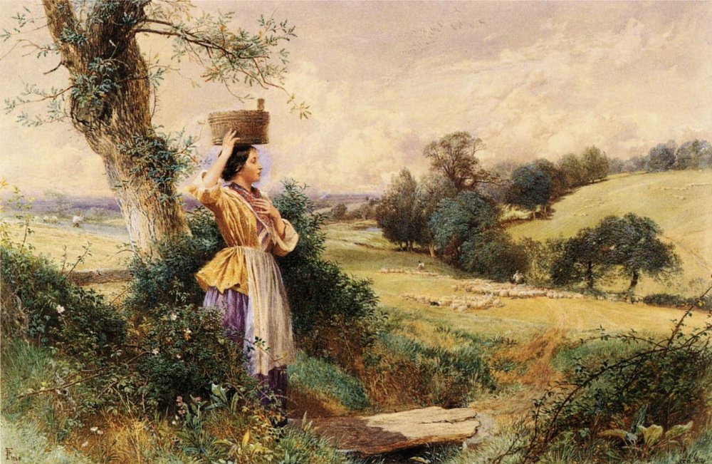 Myles Birket Foster, The Milk-maid