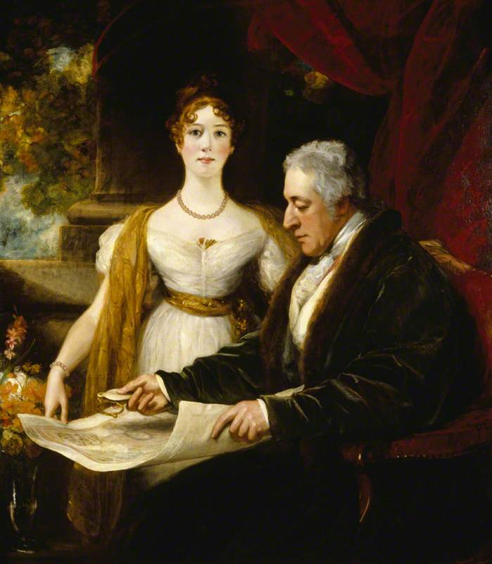 Thomas Phillips, George O'Brien Wyndham, 3rd Earl of Egremont, and His Daughter Mary Wyndham, Later Countess of Munster