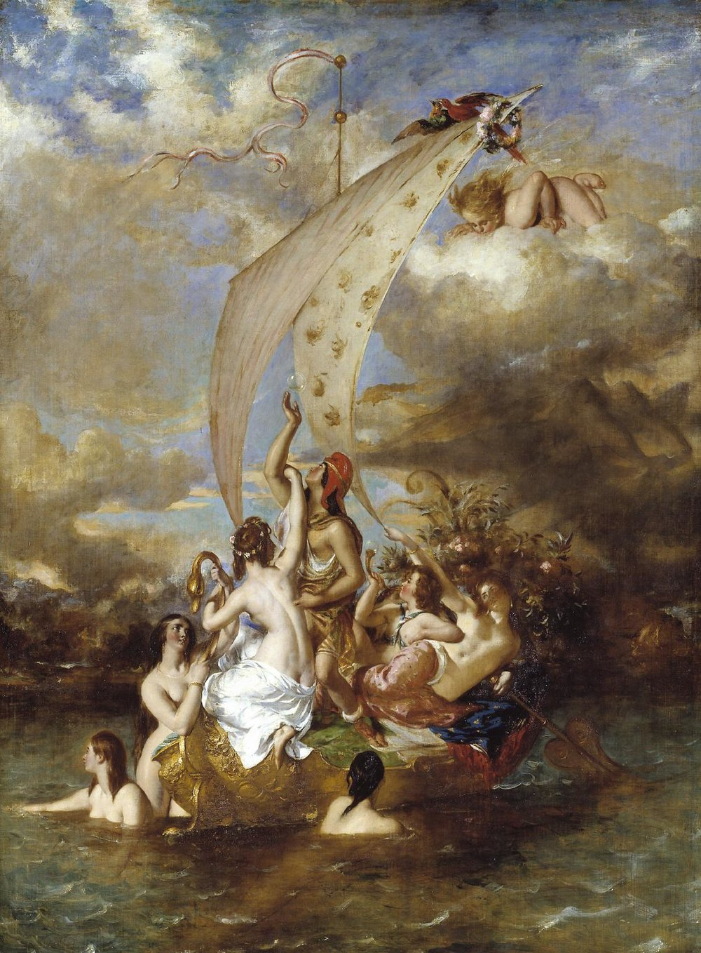 William Etty, Youth on the Prow, and Pleasure at the Helm