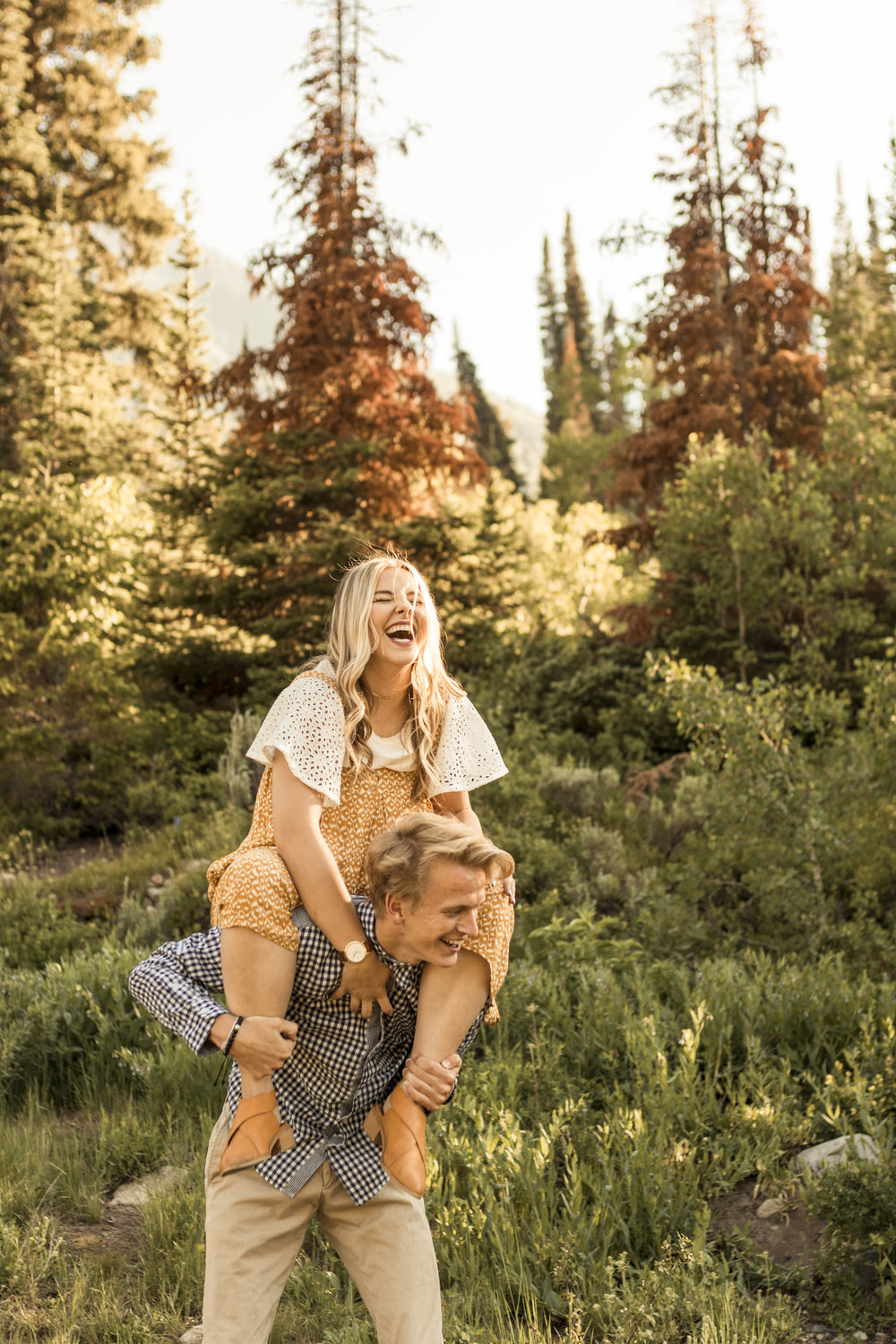 Mountain Engagement Session in Big Cottonwood Canyon, Utah by Bri Bergman Photography