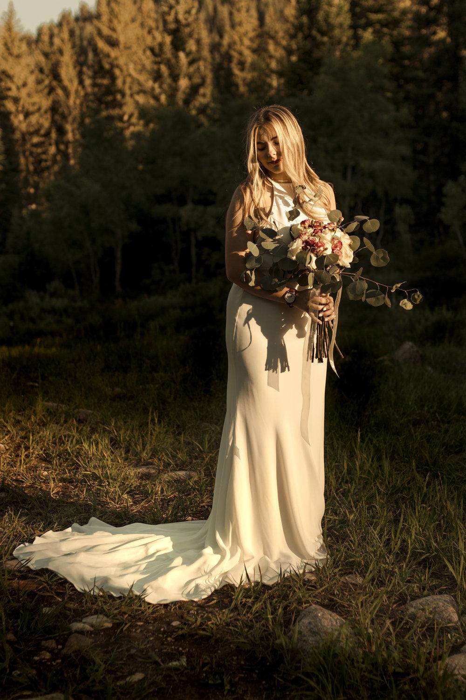 Mountain Bride in a Gateway Bridal gown by Bri Bergman Photography