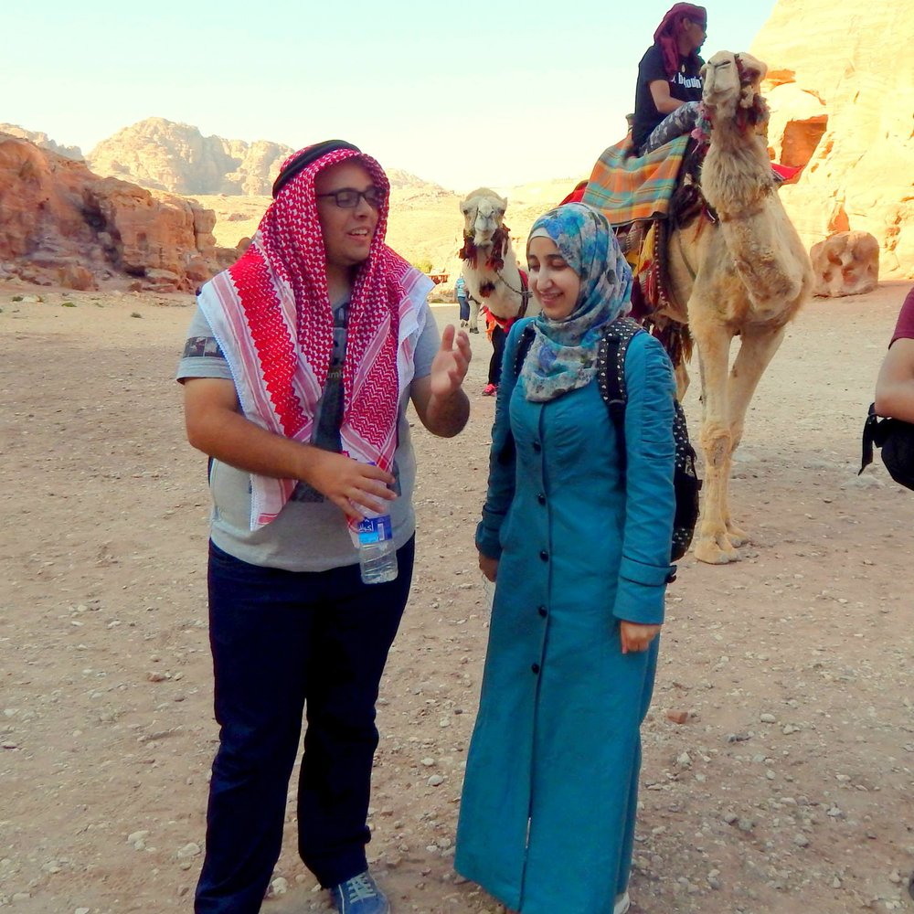 Ikhlas Alhussein @ Petra, Jordan - Preparing Global Leaders Academy (PGLA) fellow and now PhD candidate at Nanyan Technological University in Singapore.