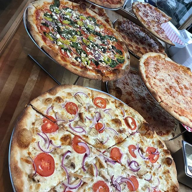 Let's start the week right #lexingtonkentucky ! We found the cure for Monday syndrome and it works for gray days too! Get your self a hot slice and feel better. #nobaddays #mondaycure #uky #gloomydayscallforpizza #pizzabytheslice #bestpizzaaround