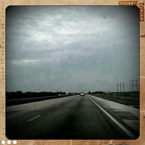 Retro Camera photograph of I95 somewhere between Orlando and Miami