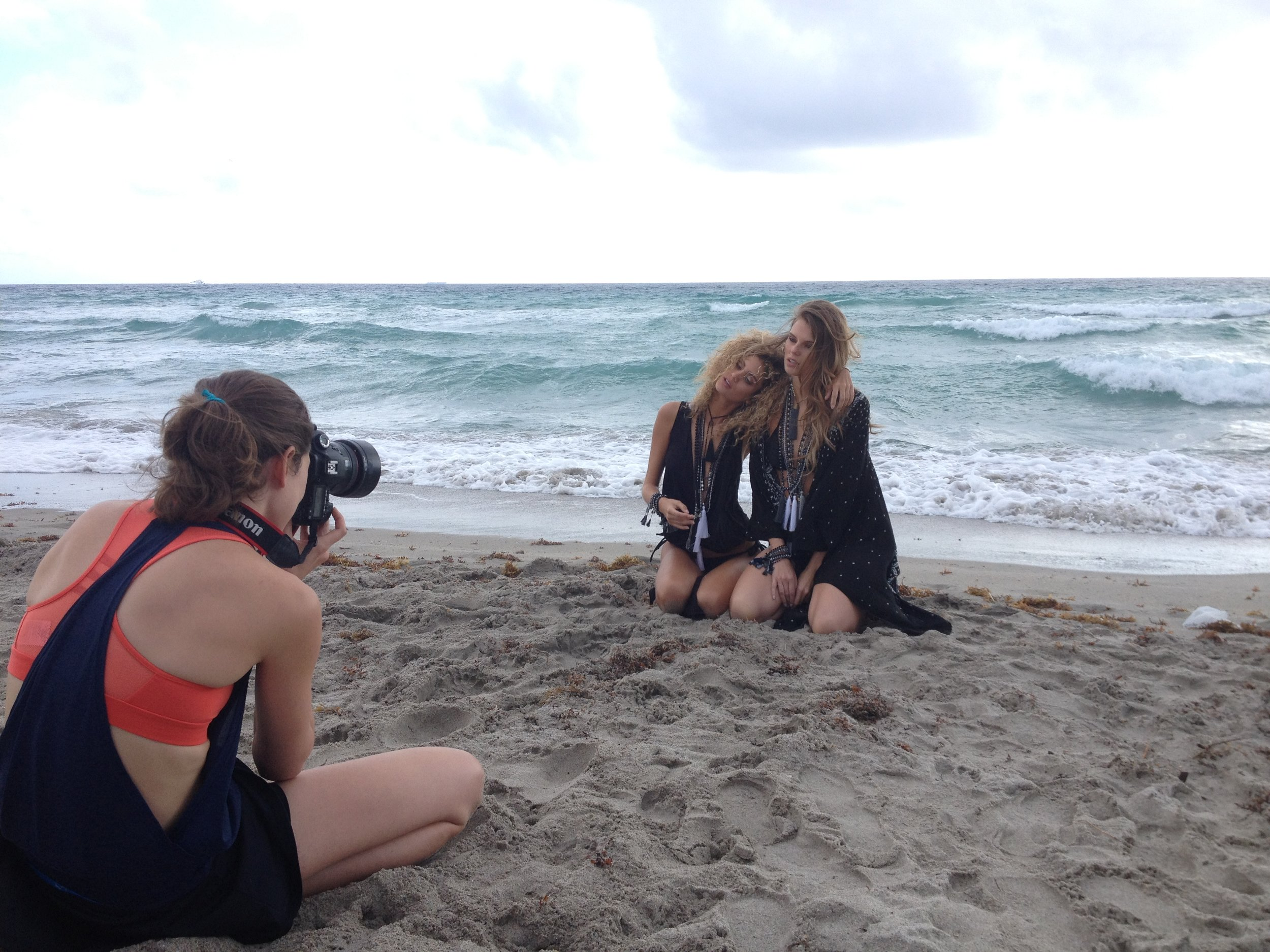 Shooting Laura and Ailidh together .