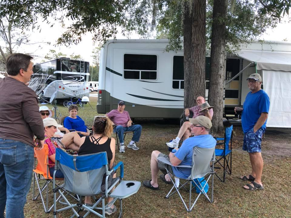 RALLIES WELCOME! - Starting in September of 2018, Wild Frontier Campground will be able to accommodate rallies and camping groups between 8-15o units.  We are now taking reservations for rallies to book any month of the year, with access to all of our amenities, including the 4000 square-foot clubhouse for events, kitchen, and pool. Call us to set up a reservation. (352) 629-3540.