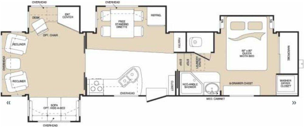 Keystone Montana Floorplan - Rental unit floor plans vary.