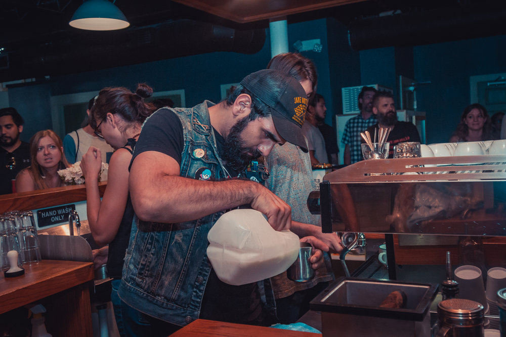 Barrets roasters, Austin TXJuly 28th, 2017 - Latte art throwdown