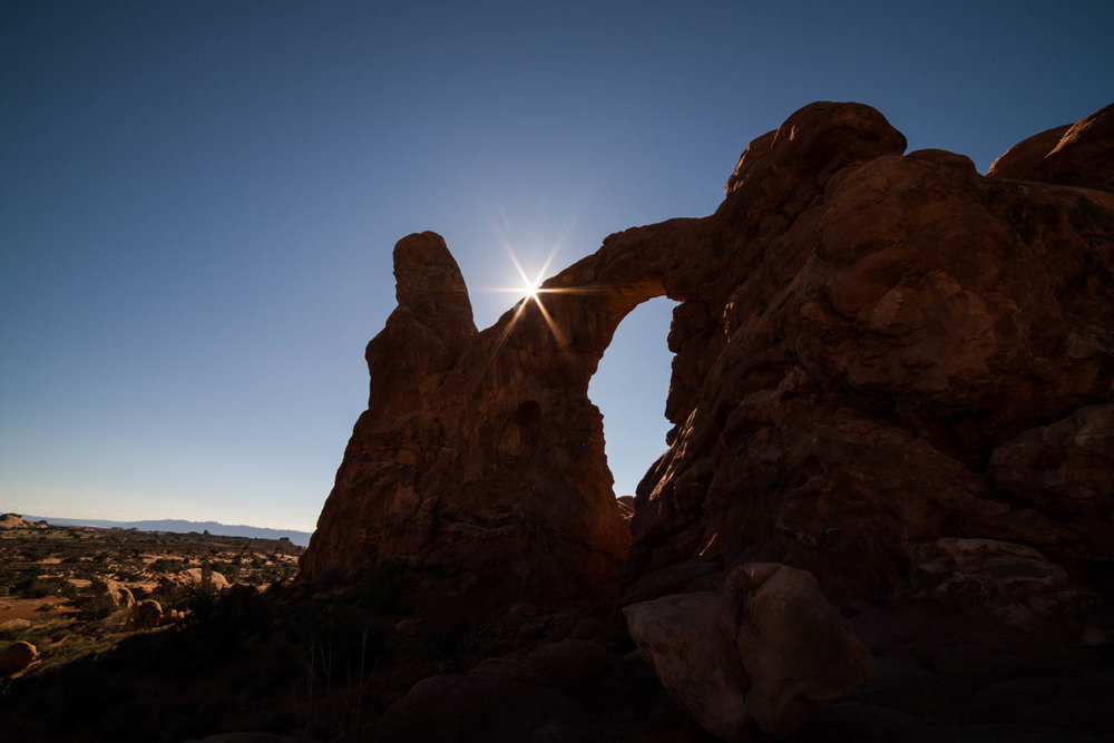 Sun Star on Turret Arch on Turret