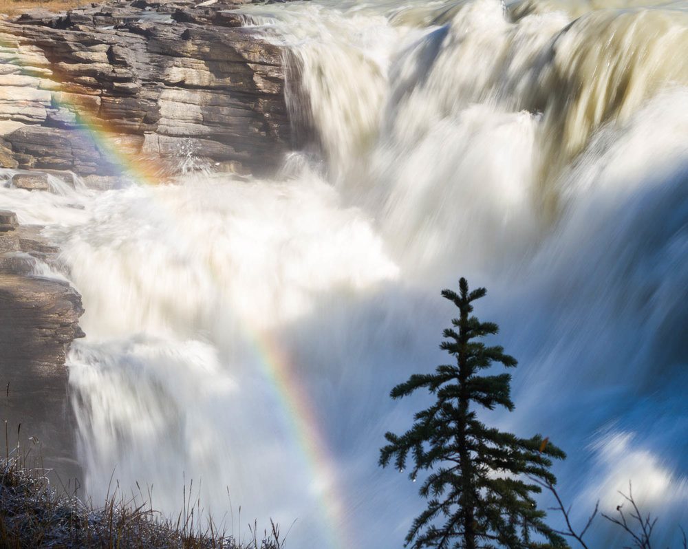 Athabasca Falls rainbow