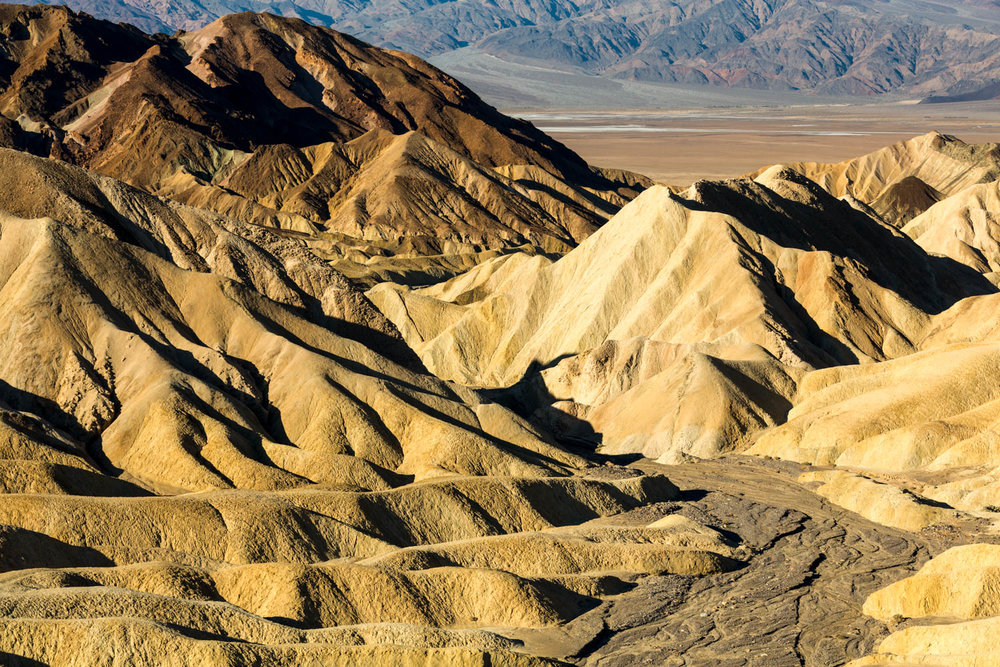 Rock Formations at Zabriskie Point