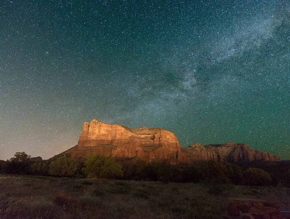 Courthouse Rock at NIght.