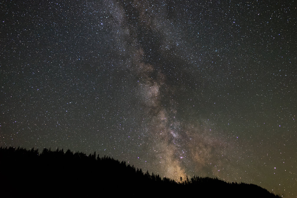 My beautiful Milky Way rising over the forested landscape of Oregon.  I hope gives you  some sense of the beauty of our world.