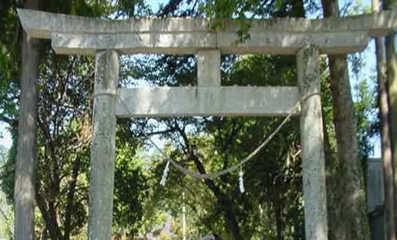 "The ""Tori"" or gate to the Nokido Shrine."