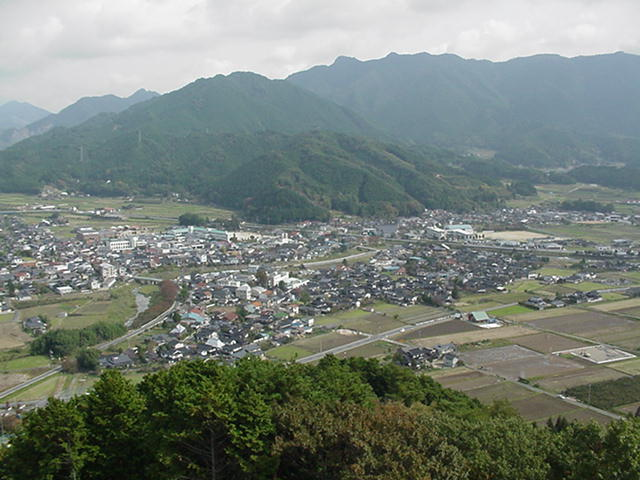Town of Kamo-Cho from hillside view (Population of 6000).