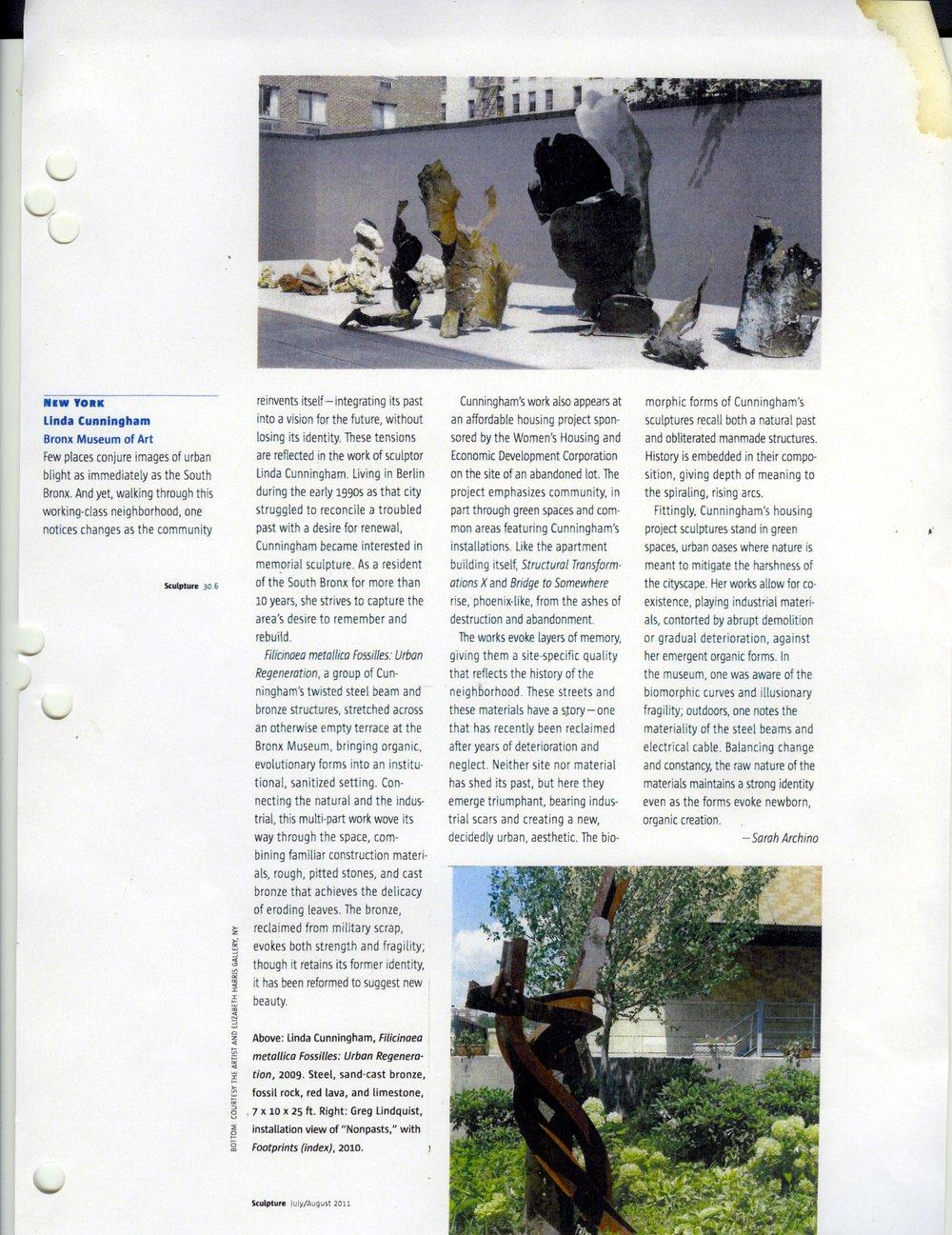 SCULPTURE MAGAZINE JULY/AUGUST 20111