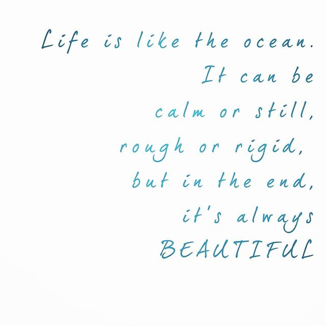 Beautiful like the ocean🌊  #livebeautifully #sunday #thoughts #happy #life #ocean
