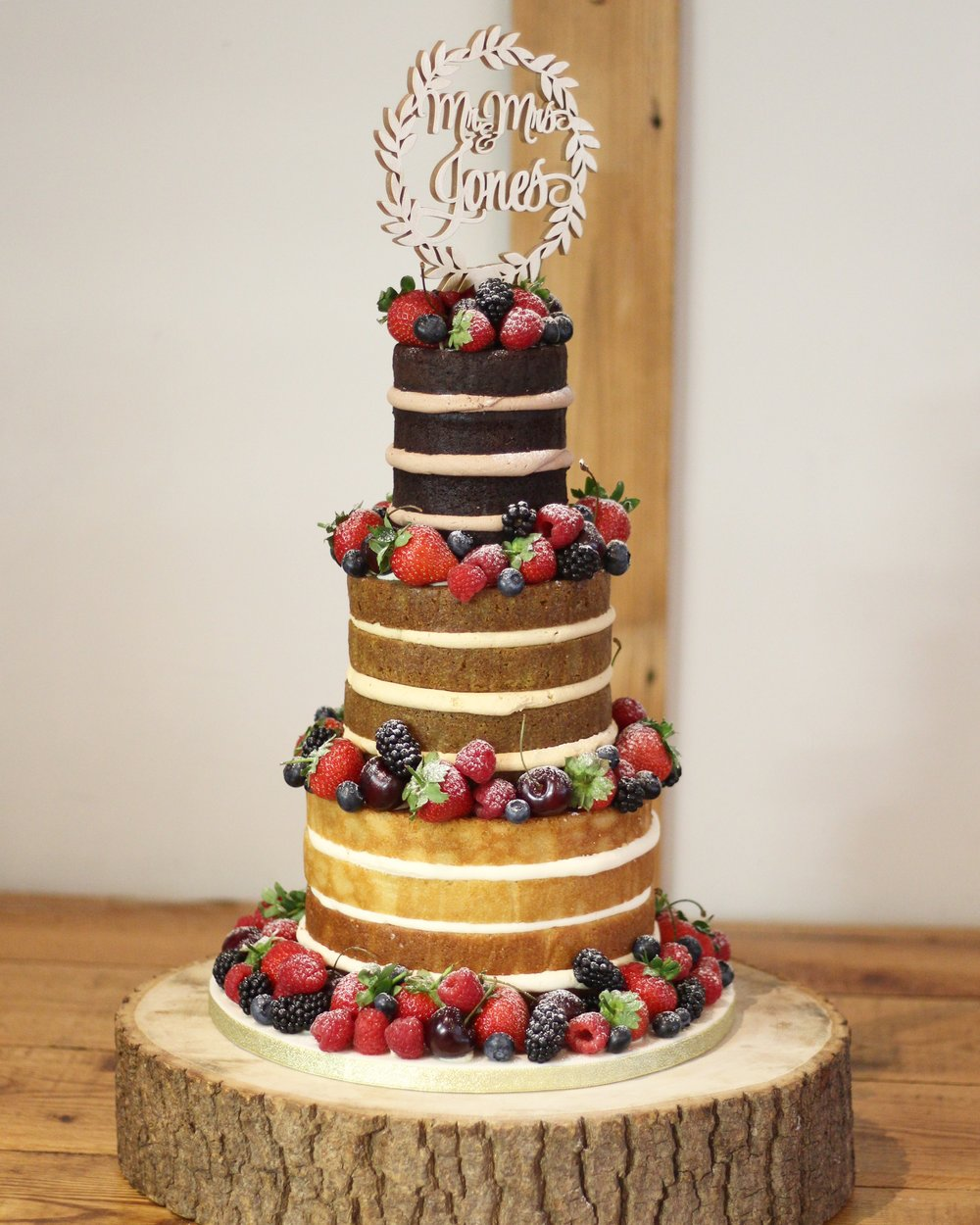 Ombre Loaded Berry Naked Cake
