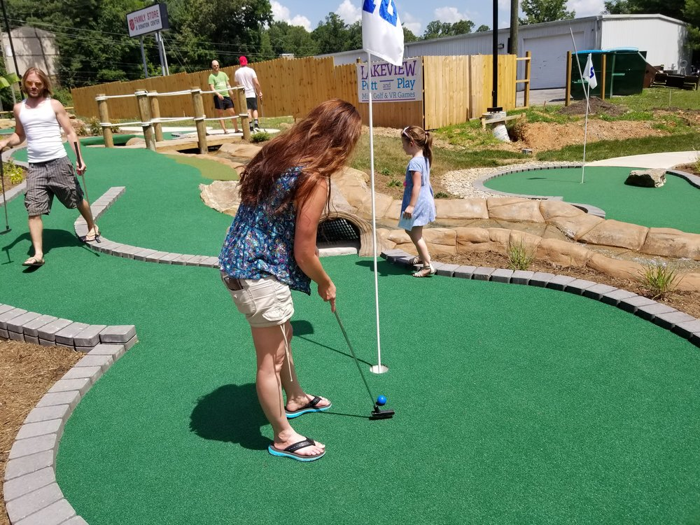 Customized course developed by Harris Miniature Golf