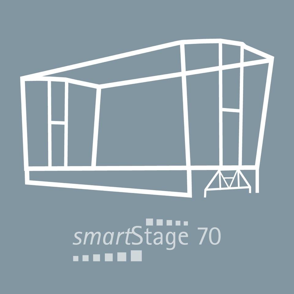 smartStage 70 - 71 qm Bühnenfläche10.00 m Breite7.20 m Tiefe6.80 m Höhe
