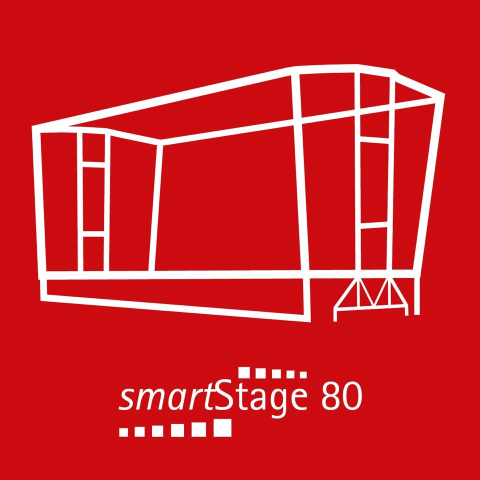 smartStage 80 - 74 qm Bühnenfläche10.55 m Breite7.00 m Tiefe7.95 m Höhe
