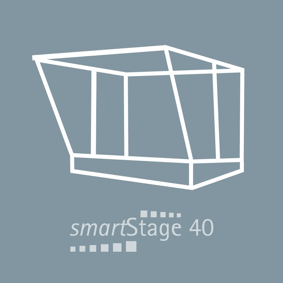smartStage 40 - 40 qm area8.00 m width5.00 m depth4.80 m height