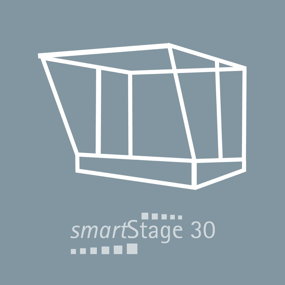 smartStage 30 - 30 qm área6.00 m ancho4.95 m profundidad4.80 m altura