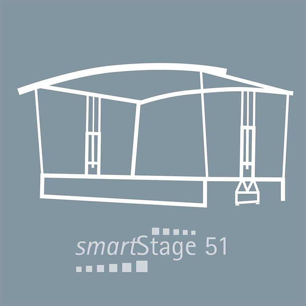 smartStage 51 - 49 qm Bühnenfläche8.00 m Breite6.20 m Tiefe4.95 m Höhe [5.30m]