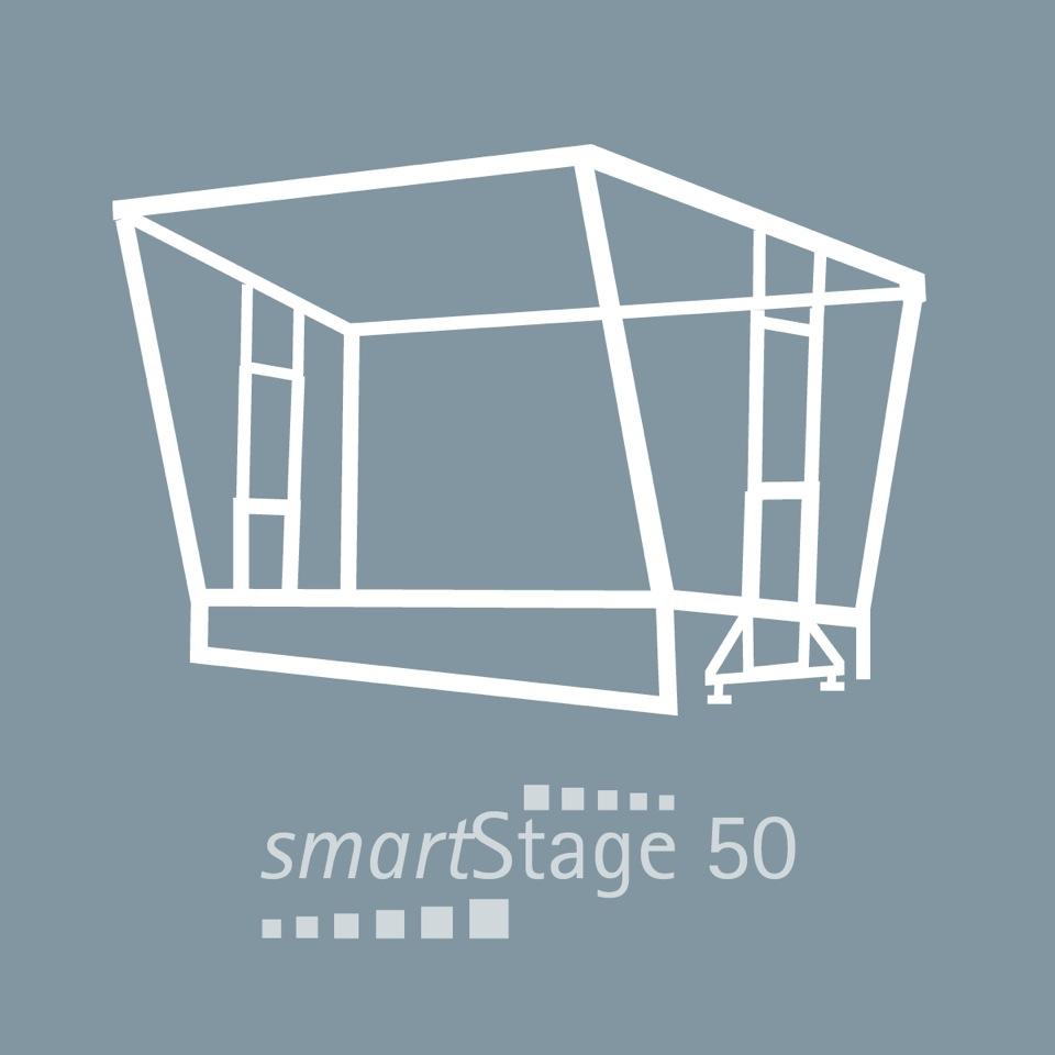 smartStage 50 - 49 qm Bühnenfläche8.00 m Breite6.20 m Tiefe4.99 m Höhe [5.25m]
