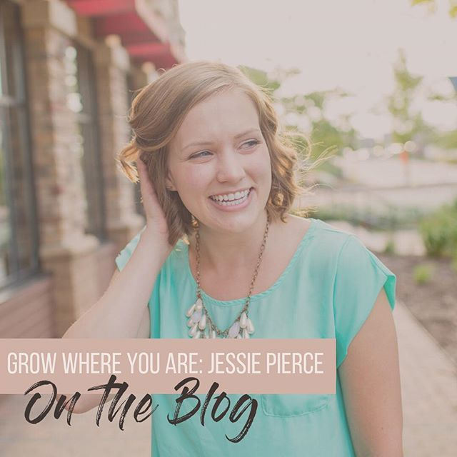 """NEW ON THE BLOG 🗣 Hear from author, blogger, & entrepreneur, Jessie Pierce with her post """"Grow Where You Are"""". Jessie is full of wisdom and practical takeaways for you to be can be the best version of yourself, today. Click the link in the bio to check it out!"""