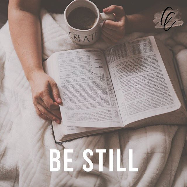 "The Lord will fight for you; you need only be still. -Exodus 14:14 ✖️ As entrepreneurs we often find ourselves in the ""go, go, go"" mentality. However, God invites us to BE STILL with Him. It's in this place that we can surrender our worries and troubles of the day and let Him be Lord over our life & our business. Here is a friendly reminder to spend time today being still with the Lord. It's amazing what happens when He fights for us! 💓"