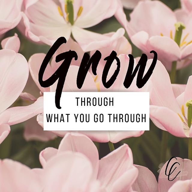 We are ALL going through things- but we don't all choose to grow through them. Look at whatever challenge you are facing in you business or personal life and choose to see it as an opportunity to growth ✖️🌸 it will only bring you and the people around you closer to where you want to go!