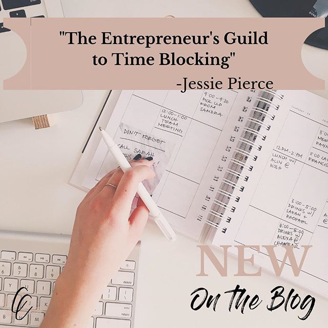 """New Blog Post is up! ✖️We can all use some helpful tips from Jessie on """"time blocking"""" and how to be more efficient throughout our busy days! Check out this useful blog and let us know what you think✔️🕐#timemanagement #entrepreneur"""