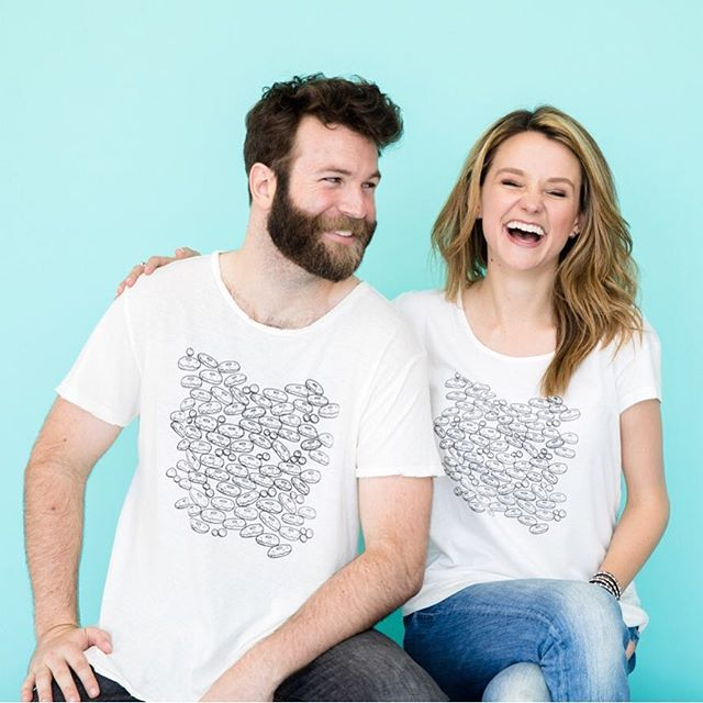 got those 'it's almost the weekend excitement' giggles?! me too! go pair it with a sweet tee designs tee --   shop for your fresh sweet tee today #linkinbio [#sweetteebyav 🍩👚🍔✨]