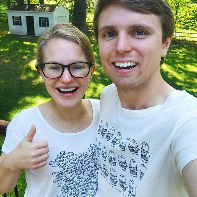 @sweetteebyav has made it all the way to doylestown, pa --   burger & donut tees unite to make THE cutest couple EVER even CUTER [if that's even possible 🙃✨🍔🍩] shop for your fresh sweet tee today! #linkinbio #sweetteebyav