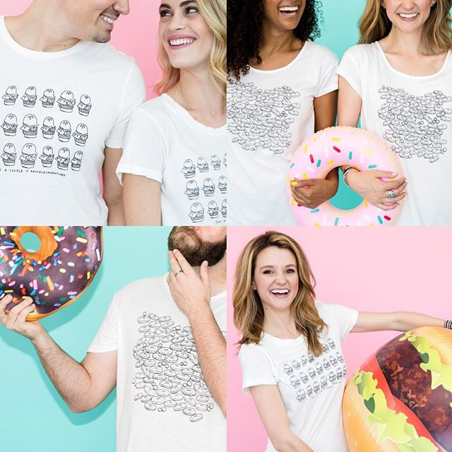 🎄🎄🎄HOLIDAY SPECIAL —   ALL TEES ARE ONLY $20 EACH 🎄🎄🎄still need a perfect gift for that burger/donut/art lover? order an #alternativeapparel tee with #museumquality #directtogarment with original doodles by yours truly FOR ONLY $20 —   link in bio to shop away! [🍩🍔🎅🎄💕 #sweetteebyav ]