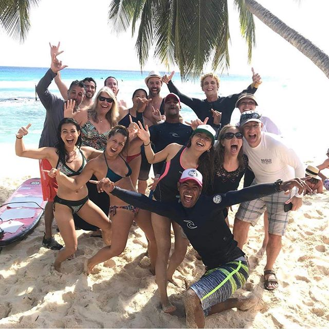 #tbt to surfing 🏄‍♀️ in Barbados with my vegan cruise crew!! Preparing for Dharma Mitra's teacher training next week. One requirement is abstaining from animal products. Diving into a deeper exploration of Ahimsa, non-injury, to the animals, to myself, to the planet. • I was raised vegan...but have become very fond of the occasional fish taco, oyster or seared salmon!  Ok body, let's do things a little different now. I'm ready for less inflammation...and to finally master yoganidrasana with both feet behind my head 🤷🏼‍♀️lets do this!!! • #plantbased#vegan#yogifood#trysomethingdifferent#lessinflammation#lessacid#flexibilty#strength#barbados#500hrytt#dharmamittra