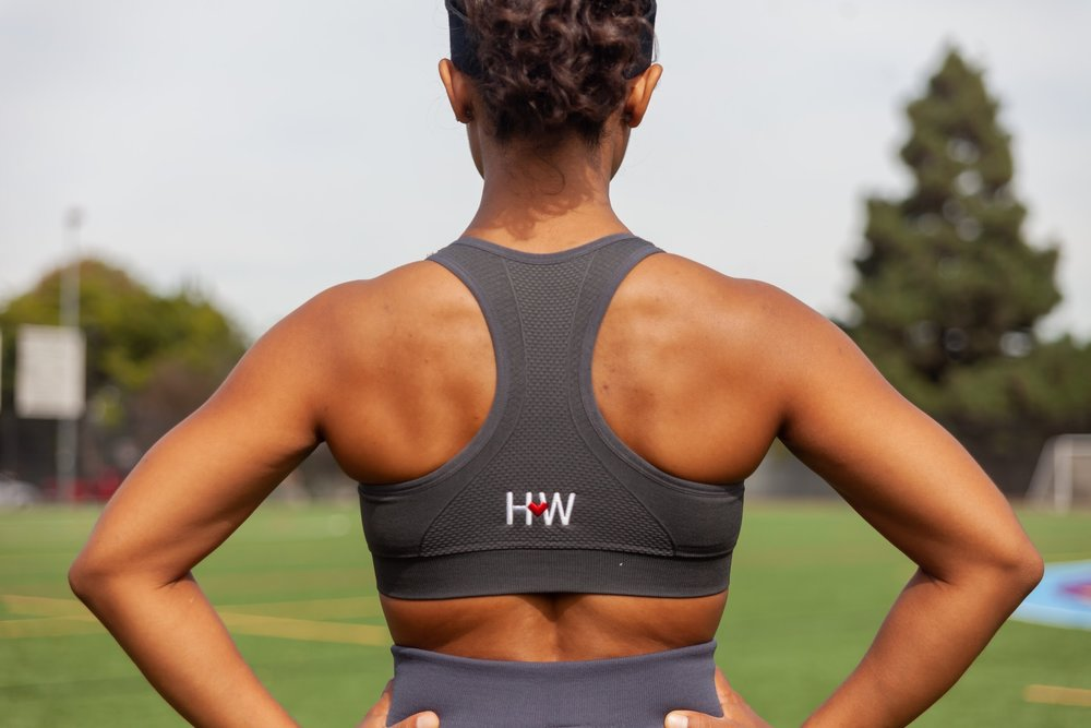 ShaniCharcoal Performance Sportsbra - Brushed chest band with soft feelCompression fit, support, and love