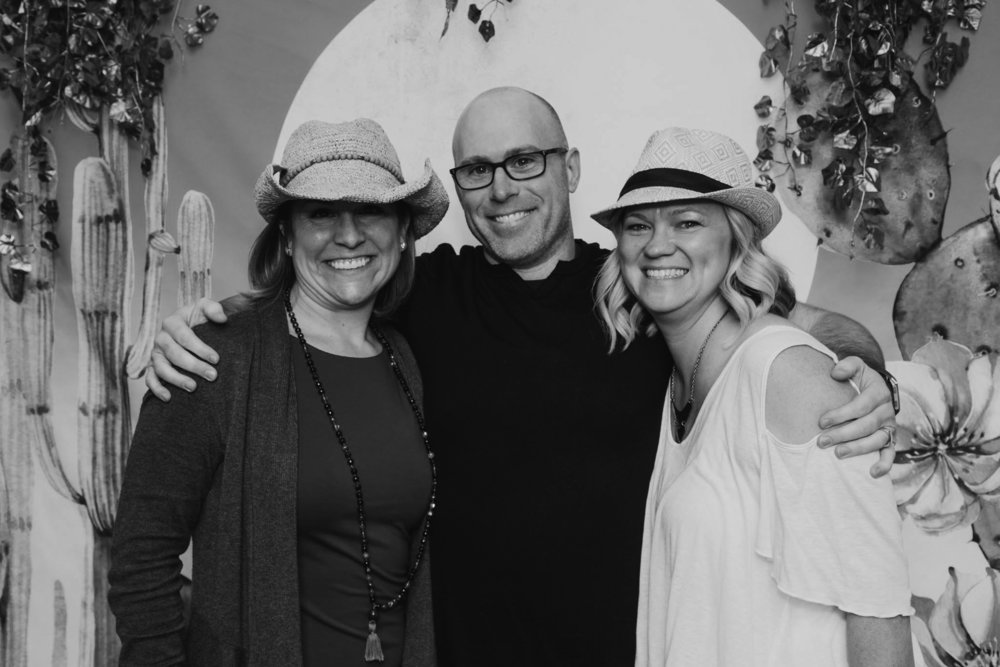 (from L to R): Tiff (my wife), Me, and my dear friend, Kelly Shroads (photographer/entrepreneur)