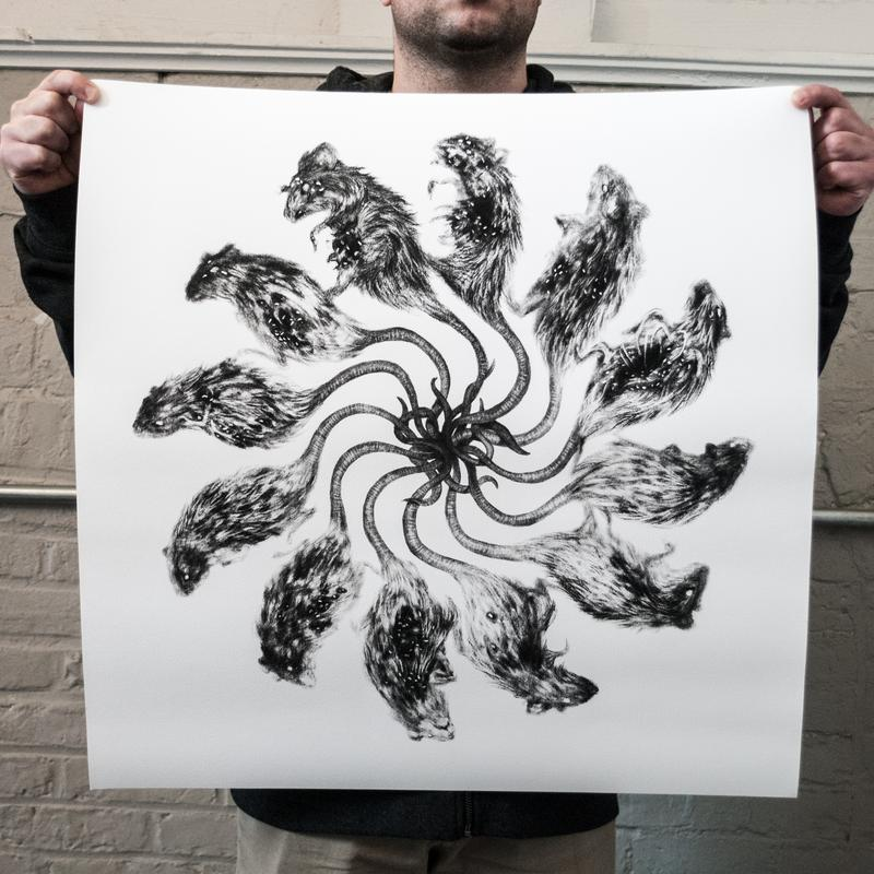 """Rat King"" 24 x 24"" Giclee Print"