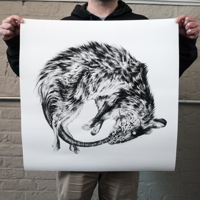 """""""Ouroboros"""" 24 x 24"""" Giclee Print"""