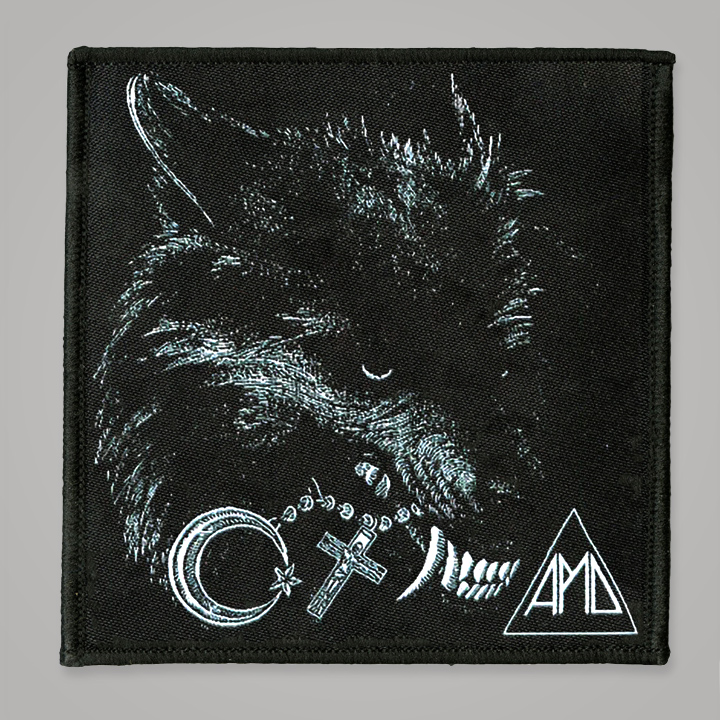 """Wolf"" 4.5"" x 4.5'"" Embroidered Patch"