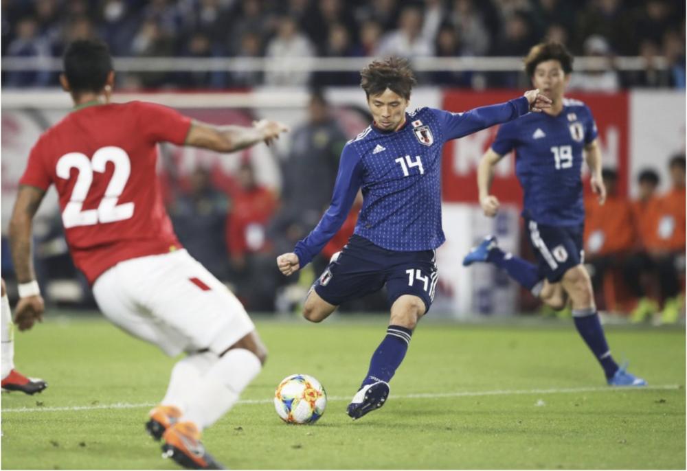 FOOTBALL: SHOYA NAKAJIMA SCORES LATE WINNER AS JAPAN BEAT BOLIVIA 1-0