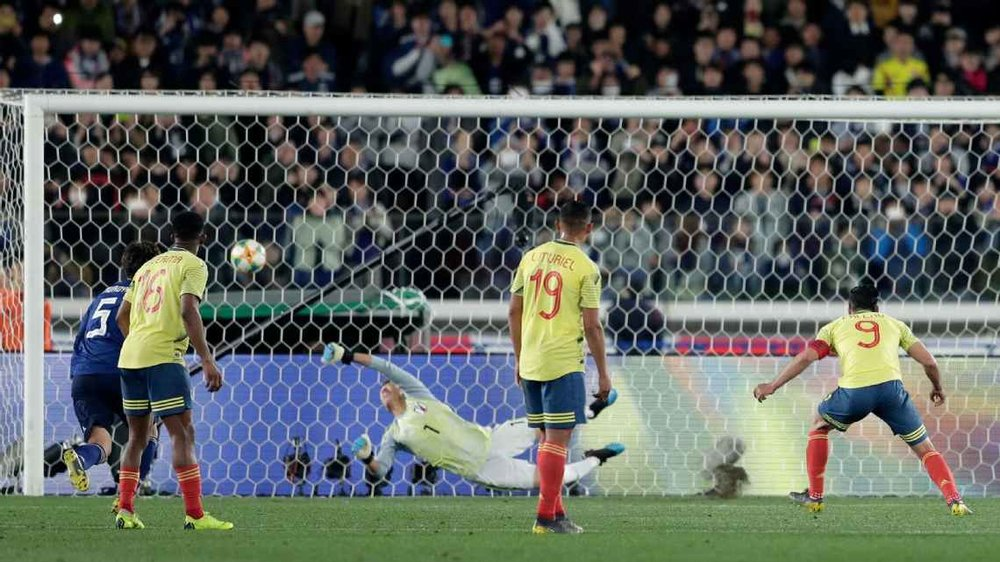 FALCAO PENALTY EARNS COLOMBIA EARNS WIN OVER JAPAN IN QUEIROZ'S FIRST GAME