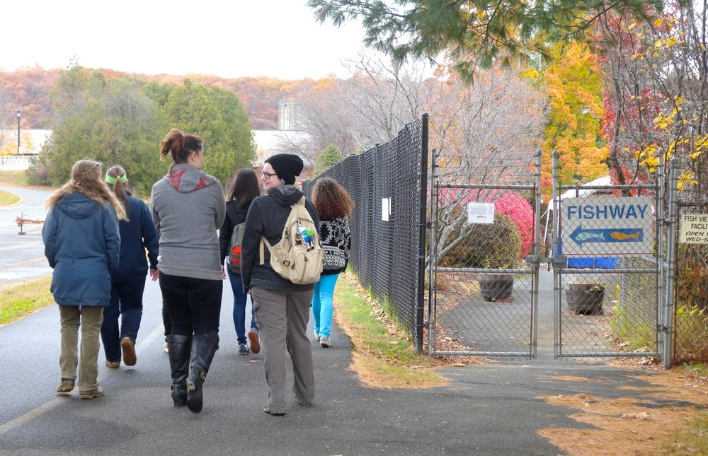 Field trip with History majors from Mount Holyoke College (2015), Peskeomskut/Turners Falls, Massachusetts.